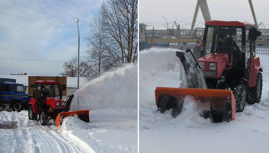 Тракторный шнекороторный снегоочиститель СТ 1500